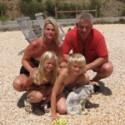 Emile, Mandy, Justin en Caitlin
