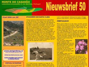 Monte do Casarao Nieuwsbrief
