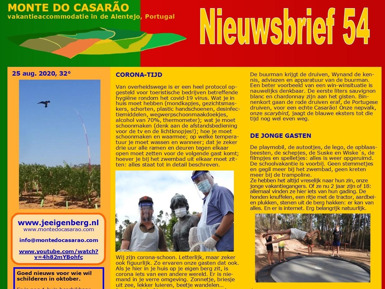 Nieuwsbrief Monte do Casarão